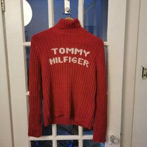 VTG TOMMY HILFIGER Ribbed Turtleneck Sweater Sz L